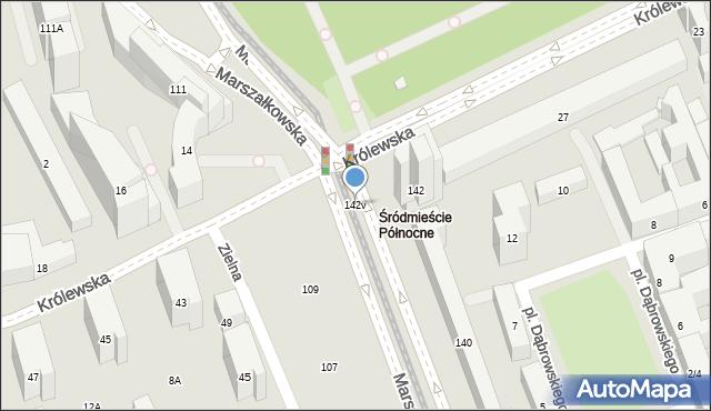 Warszawa, Marszałkowska, 142v, mapa Warszawy
