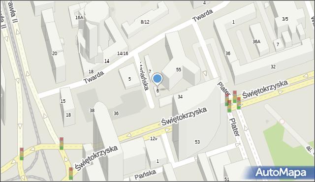 Warszawa, Mariańska, 6, mapa Warszawy