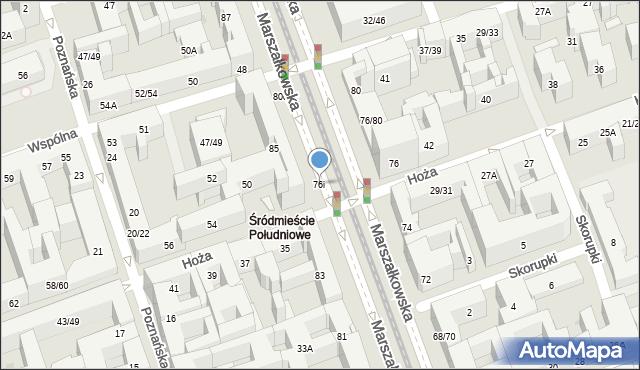 Warszawa, Marszałkowska, 76i, mapa Warszawy