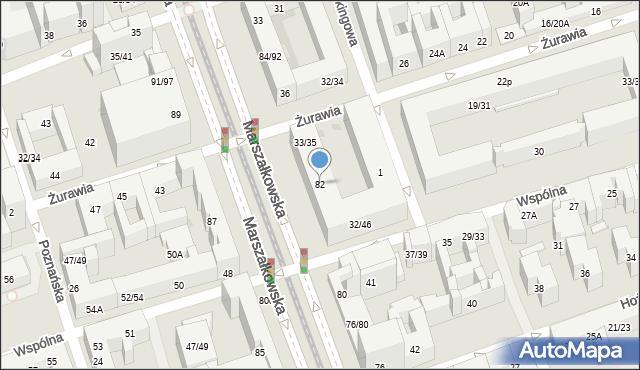 Warszawa, Marszałkowska, 82, mapa Warszawy