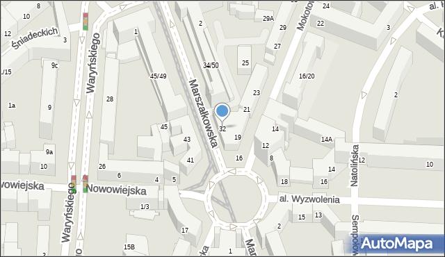 Warszawa, Marszałkowska, 32, mapa Warszawy