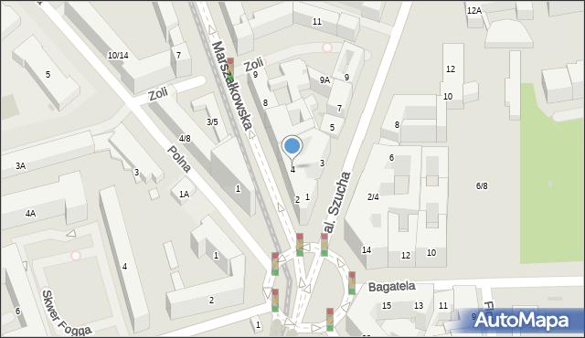 Warszawa, Marszałkowska, 4, mapa Warszawy