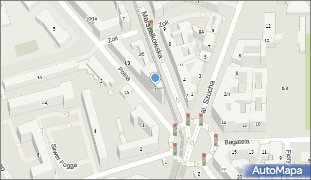 Warszawa, Marszałkowska, 1, mapa Warszawy