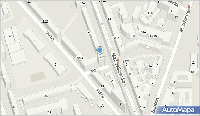 Warszawa, Marszałkowska, 7, mapa Warszawy