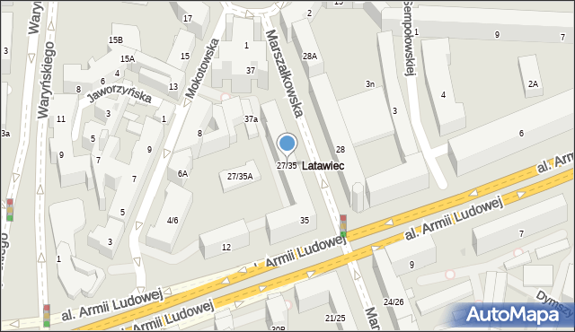Warszawa, Marszałkowska, 27/35, mapa Warszawy