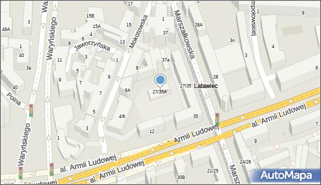 Warszawa, Marszałkowska, 27/35A, mapa Warszawy