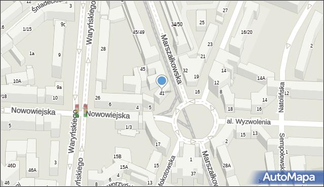 Warszawa, Marszałkowska, 41, mapa Warszawy