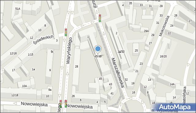 Warszawa, Marszałkowska, 45/49, mapa Warszawy