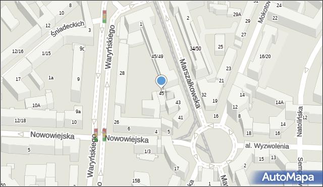 Warszawa, Marszałkowska, 45, mapa Warszawy