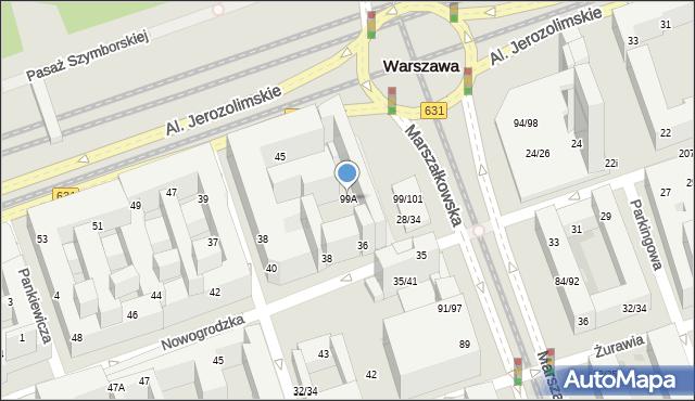 Warszawa, Marszałkowska, 99A, mapa Warszawy