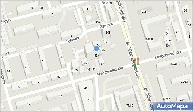 Warszawa, Malczewskiego Antoniego, 42a, mapa Warszawy