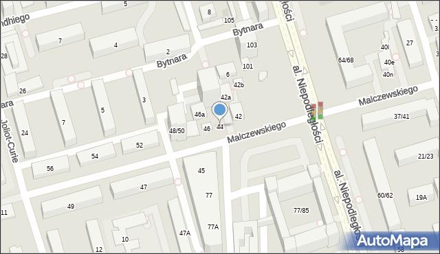 Warszawa, Malczewskiego Antoniego, 44, mapa Warszawy