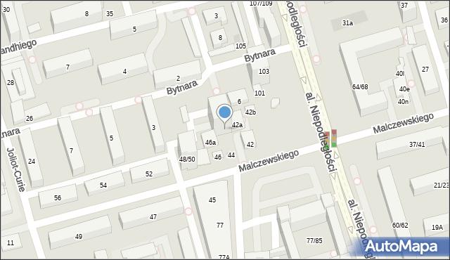Warszawa, Malczewskiego Antoniego, 44a, mapa Warszawy