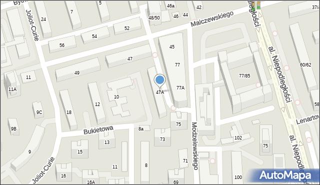 Warszawa, Malczewskiego Antoniego, 47A, mapa Warszawy