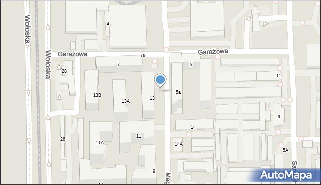 Warszawa, Magazynowa, 13u, mapa Warszawy