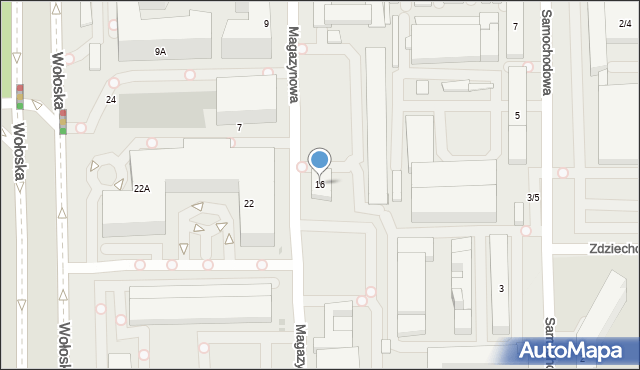 Warszawa, Magazynowa, 16, mapa Warszawy