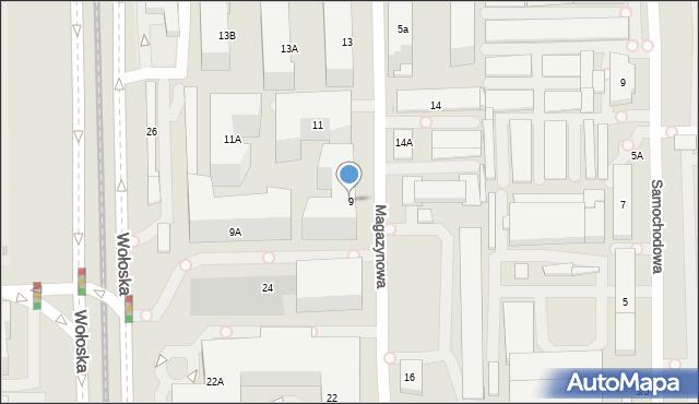 Warszawa, Magazynowa, 9, mapa Warszawy