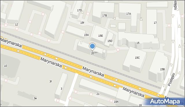 Warszawa, Marynarska, 10, mapa Warszawy