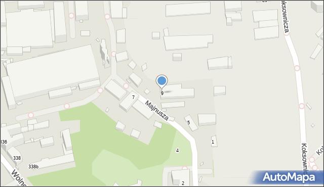 Zabrze, Majnusza Pawła, 9, mapa Zabrza