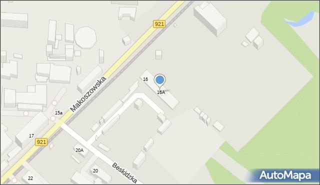 Zabrze, Makoszowska, 16A, mapa Zabrza
