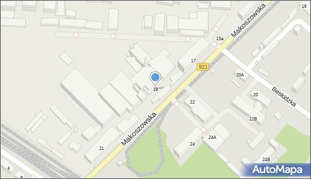 Zabrze, Makoszowska, 19, mapa Zabrza
