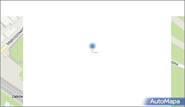 Zabrze, Makoszowska, 24B, mapa Zabrza