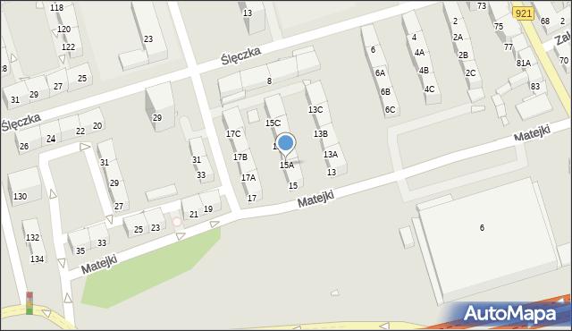 Zabrze, Matejki Jana, 15A, mapa Zabrza