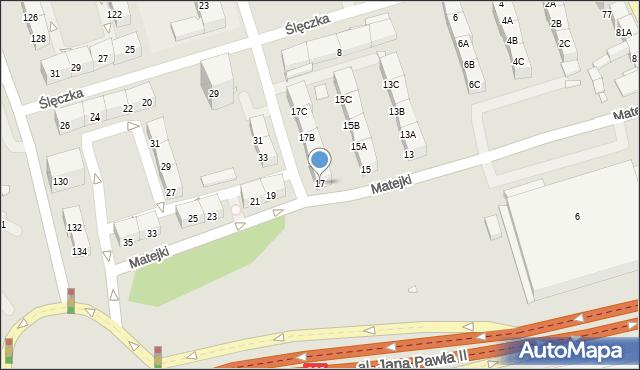 Zabrze, Matejki Jana, 17, mapa Zabrza