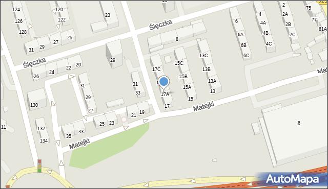 Zabrze, Matejki Jana, 17A, mapa Zabrza