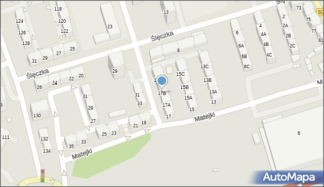 Zabrze, Matejki Jana, 17B, mapa Zabrza