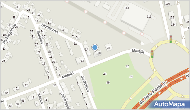 Zabrze, Matejki Jana, 41, mapa Zabrza