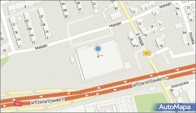 Zabrze, Matejki Jana, 6, mapa Zabrza