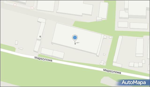 Zabrze, Magazynowa, 4, mapa Zabrza