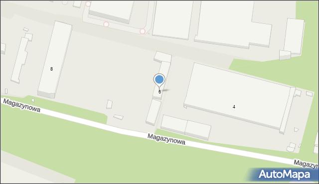 Zabrze, Magazynowa, 6, mapa Zabrza