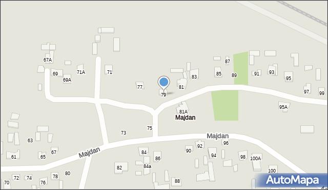 Zamość, Majdan, 79, mapa Zamościa