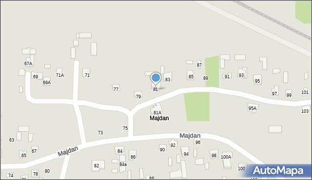 Zamość, Majdan, 81, mapa Zamościa
