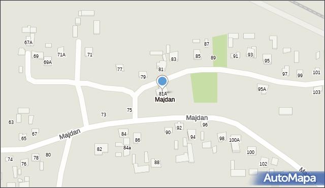 Zamość, Majdan, 81A, mapa Zamościa