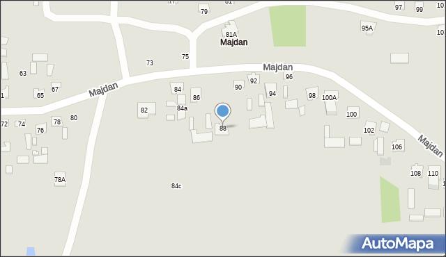 Zamość, Majdan, 88, mapa Zamościa