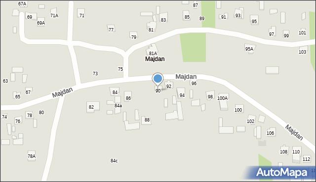 Zamość, Majdan, 90, mapa Zamościa
