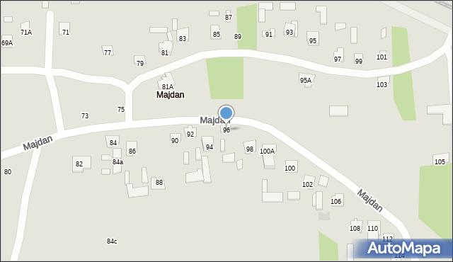 Zamość, Majdan, 96, mapa Zamościa