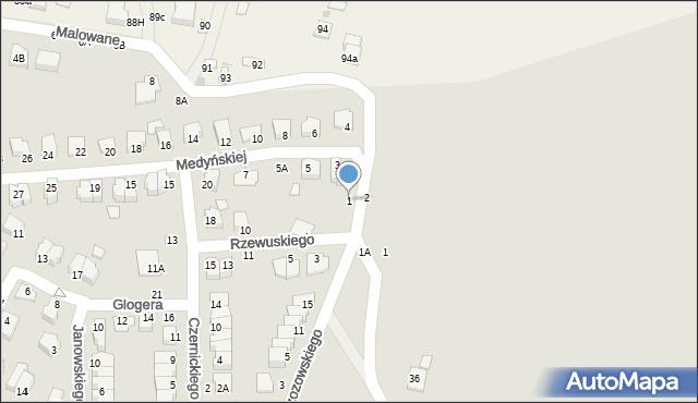 Chełm, Medyńskiej Jadwigi, 1, mapa Chełma