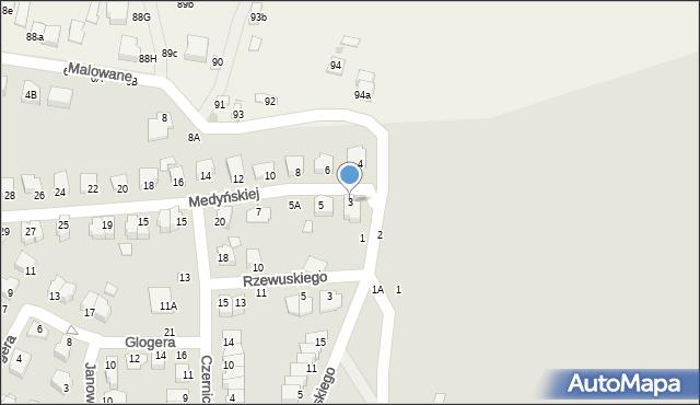Chełm, Medyńskiej Jadwigi, 3, mapa Chełma