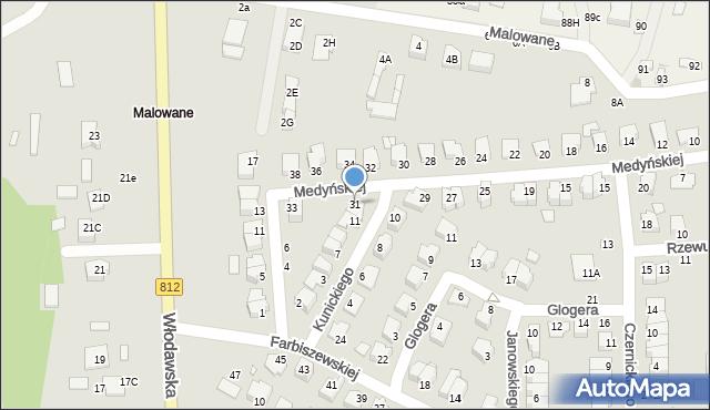 Chełm, Medyńskiej Jadwigi, 31, mapa Chełma