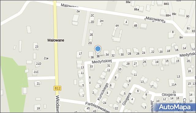 Chełm, Medyńskiej Jadwigi, 36, mapa Chełma