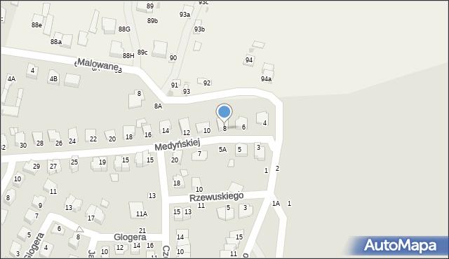 Chełm, Medyńskiej Jadwigi, 8, mapa Chełma