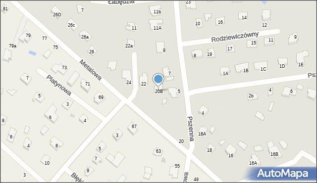 Chełm, Metalowa, 20B, mapa Chełma