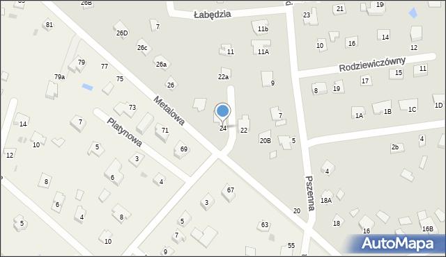 Chełm, Metalowa, 24, mapa Chełma