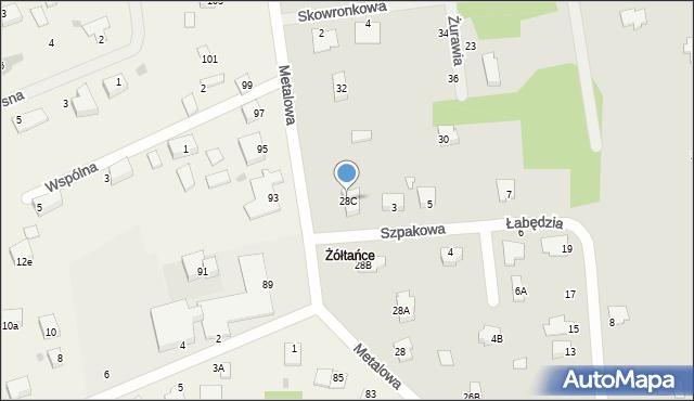 Chełm, Metalowa, 28C, mapa Chełma