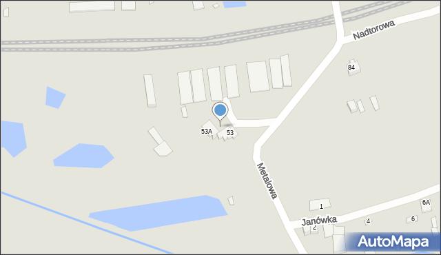 Chełm, Metalowa, 33, mapa Chełma