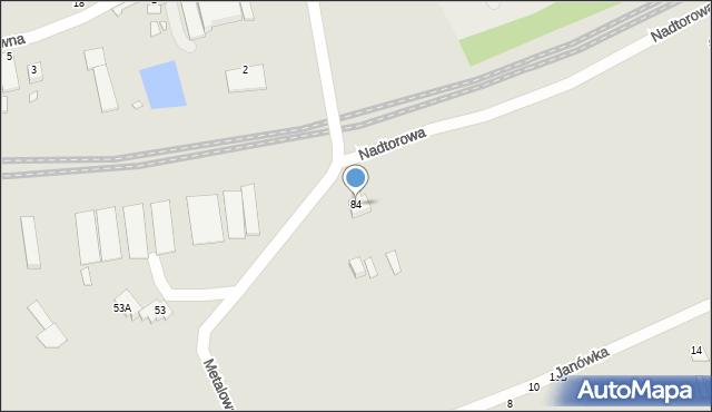 Chełm, Metalowa, 84, mapa Chełma